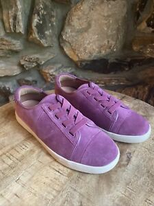 Womens Vionic Jean Suede Comfort Shoes 8 Slip Casual Purple