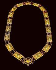 Masonic Regalia SHRINER SPHINX Metal Chain Collar NO BACKING DMR-1100G
