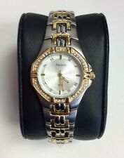 PULSAR Crystal Collection Ladies Two-Tone Stainless Steel Swarovski WATCH PTC388