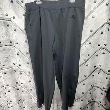 NIKE Mens Size XXL 2XL Solid Black Athletic Track Pants