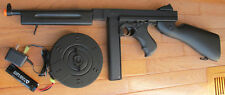 Airsoft Auto Electric Rifle Thompson M1A1 Tommy Gun with 2 Mag 320 FPS Black