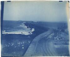 Photo Grand Cyanotype Digue de l'Ouest Cherbourg Normandie 1893