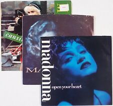 MADONNA: Open Your Heart and Others 3x 45 Record Lot w/ Picture Sleeves
