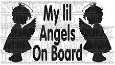 Il mio Lil ANGELI BABY BAMBINI BAMBINE GEMELLE a bordo segnale di sicurezza Adesivo in Vinile