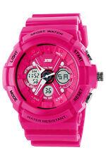 S-SHOCK Stainless Steel Quartz Watch Waterproof Analog Digital Wristwatch