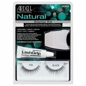 Ardell 110 Fashion Lash Starter Kit - Natural Look Strip Eyelashes With Glue