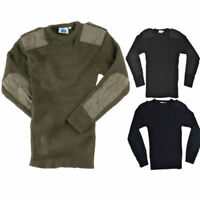Cew Neck Combat Jumper Army  Security Pullover Military Police Black Navy S-3XL
