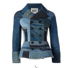 SOLD OUT, NWT $2,560 JUNYA WATANABE/COMME DES GARCONS PATCHWORK DENIM JACKET