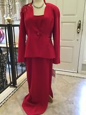 Daymor by M Ferreira NEW MOB evening formal occasion Red dress suit 10