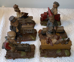 Tom Clark 6 Piece Lot of Signed Gnome Train Set Retired