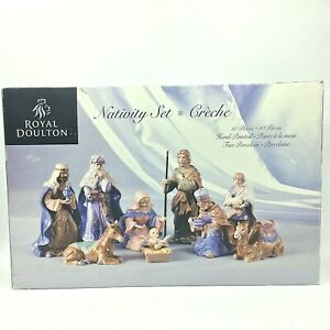 Royal Doulton Christmas Nativity Set 10 Piece Hand Painted MINT CONDITION