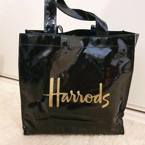 Harrods PVC Black Bag Genuine