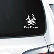 A241 I'm A Prepper GAS mask Radiation Doomsday vinyl decal laptop car truck van