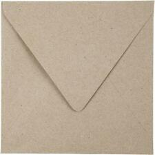 50 x Square Natural Colour Recycled Paper Envelopes Office Mailing Supplies 16cm
