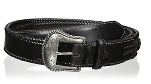 Nocona Top Hand Leather Lace Edge Concho Western Belt Size 32 - N2475601