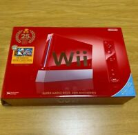 Nintendo Wii Super Mario Bros 25th Anniversary Red Limited Edition Console