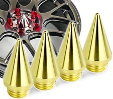 4 x Gold 24k Spike Spikes For Wheel Nuts Lug Tuner Lugs