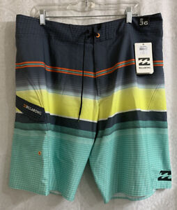 Men's Billabong Board Shorts Size 36 L Platinum X NWT  Multi Colors
