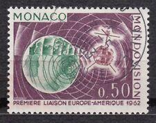 TIMBRE MONACO OBL N° 612   LIAISON TELEVISION PAR SATELLITE TELSTAR TRANSMISSION