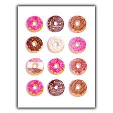 Doughnut Donuts METAL WALL PLAQUE Sign print humorous pop art cafe kitchen decor