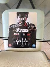 THE RAID+RAID 2 Blu-Ray Steelbook Collectors Edition -Embossed-UK-Region B