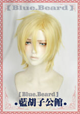 BANANA FISH Ash Lynx Short Straight Blonde Cosplay Wig Heat Resistant Party Wigs
