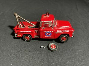 """Matchbox 1955 Chevy 3100 Pickup Tow Truck """"AAA Towing & Service"""" - Needs Repair"""