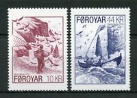 Faroes Faroe Islands 2018 MNH Seabird Fowling 2v Set Puffins Birds Stamps