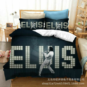 Elvis Presley Bedding Sets 2PC/3PC Of Soft Duvet Cover & Pillowcase Kids Gift