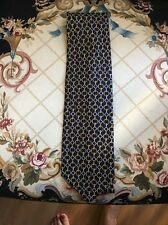Paolo Designed By Paolo Gucci 100% Silk Tie Navy Print
