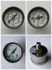 Manometer Druckluft waagerecht D: 40 mm Anschluss hinten versch. Typen bar/psi