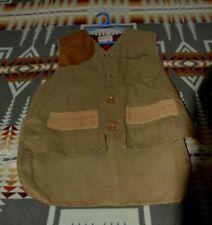 Bob Allen Vintage Game Shooter hunting vest tan canvas Mens 42, New old stock