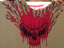 Airbrushed Bleeding SKULL t-shirt One of a Kind mens XL