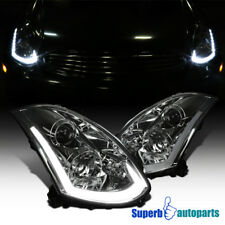 For 03-05 Infiniti G35 Coupe Smoke Projector Headlights+Integrated LED+Signal