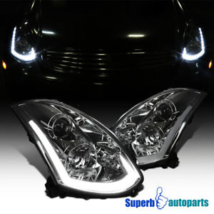 For 2003-07 Infiniti 03-07 G35 Coupe Projector Headlights Sequential LED Signal