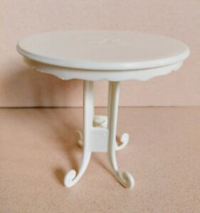 2008 Mattel Barbie Cafe Table White Plastic Bistro High Top Table