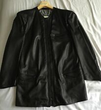 GIANNI VERSACE Men's (44-48) Leather Jacket Black Solid