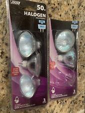 5 Lightbulbs 50 Watt 12volt Reflector 2 Prong GU5.4 Feit Electric