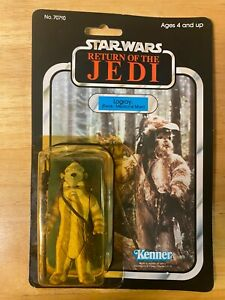 Star Wars ROTJ Logray (Medicine Man) Figure - 1983 Kenner 77-Back - Unopened MOC