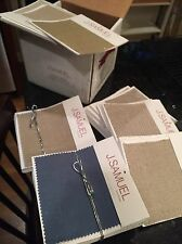New listing Box Of 60 Samples - J Samuel Imported Linen Swatches - Great Colors - Craft Quil