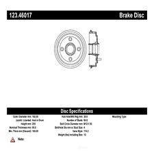 Brake Drum Rear Centric 123.46017