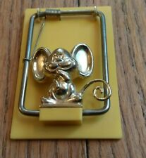 vintage mousetrap-shaped memo paper holder Mouse Mice Lovers Gift Tension Spring