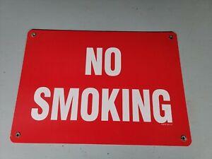 Vintage No Smoking Porcelain Sign Gas Oil Camping Fishing Hunting