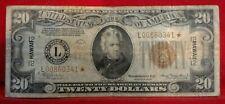 "1934 $20 TWENTY DOLLARS *STAR* ""HAWAII"" FRN FEDERAL RESERVE NOTE"