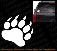 Bear/Polar Bear Paw Print Die Cut Vinyl Decal Car Window Bumper Sticker Am008