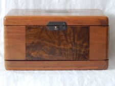 Vintage Tube Trimmer Battery Box Storage Replacement Burl Wood Insert USA