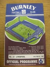 18/03/1967 Burnley v Liverpool  (Faint Fold). Thanks for viewing this item, buy