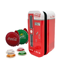 2020 Coca-Cola Vintage Vending Machine 4-Coin Silver Set Sprite Fanta Diet Coke