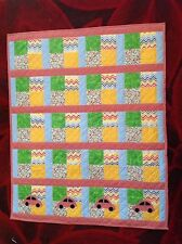Cushi cots boys handmade quilted keepsake/cot/ blanket/ nursery/ topper new cars