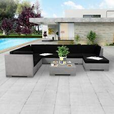 vidaXL Loungeset Beton 24-delig Tuinbankenset Tuinmeubelset Tuinset Tuinmeubel